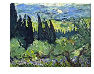 Italian Landscape Cypresses(Fauvism)(1902)