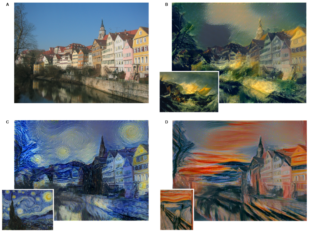 'A Neural Algorithm of Artistic Style'에 소개된 샘플 이미지들